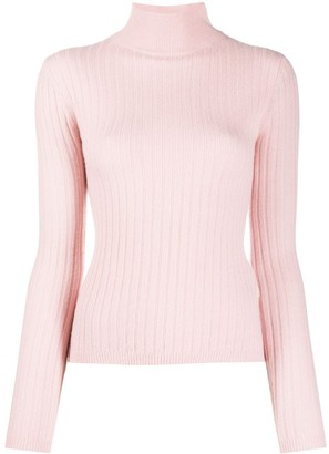 Allude Ribbed Knit Cashmere Jumper