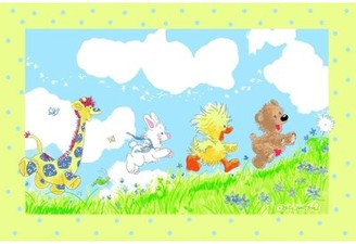 "Fun Rugs Suzy Zoo Looking For The Wishing Puff Area Rug Rug Size: 3'3"" x 4'10"""