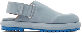 Jacquemus Blue Nubuck Les Mules Shoes