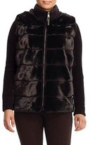 Gorski Cashmere-Trim Mink-Fur Jacket, Black