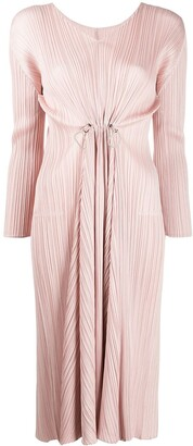 Pleats Please Issey Miyake pleated v-neck dress