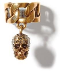 Alexander McQueen Skull-pendant Chain Ear Cuff - Gold