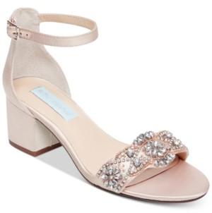 Blue by Betsey Johnson Women's Wide Mel Block Heel Sandal Women's Shoes