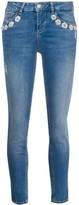 Liu Jo crystal flowers-embellished skinny jeans