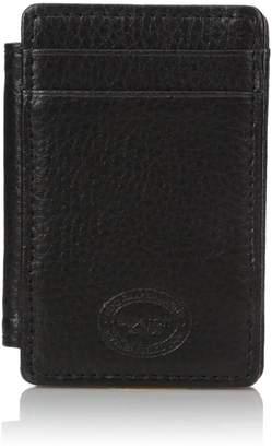 Buxton Men's RFID Blocking I.D. Leather Slim Minimalist Magic Wallet