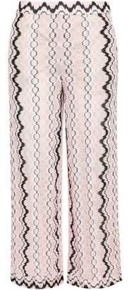 Missoni Cropped Crochet-knit Wide-leg Pants