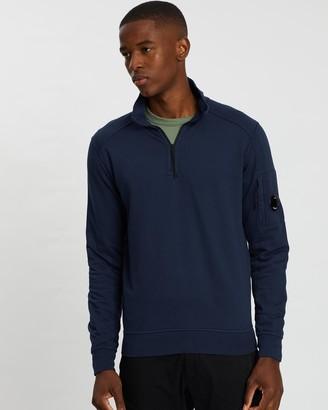 C.P. Company Garment Dyed Light Fleece Quarter-Zip Sweater