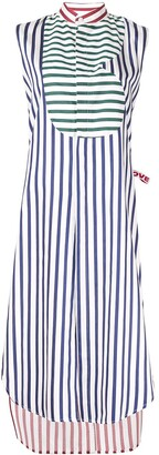 Charles Jeffrey Loverboy Striped Shirt Dress