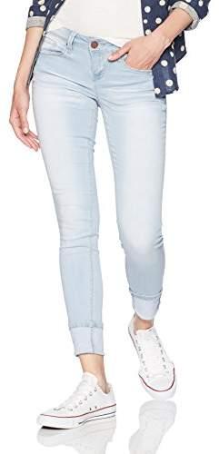 YMI Jeanswear Women's Luxe Low Rise Mega Cuff Anklet Skinny Jean