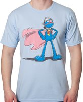 Mighty Fine Men's Sesame Street Super Grover T-Shirt Powder Blue