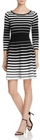 Milly Degrade Stripe Flare Dress