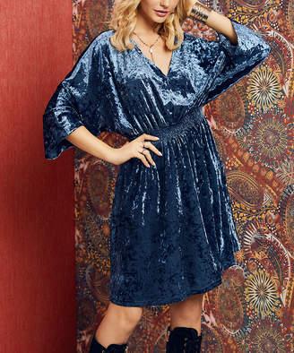 Suzanne Betro Dresses Women's Casual Dresses 101SLATE - Slate Kimono-Sleeve Blouson Dress - Women & Plus