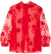 Simone Rocha Embroidered Tulle Blouse - UK6