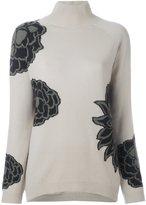 Etro floral print high neck jumper