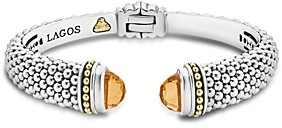 Lagos 18K Gold and Sterling Silver Caviar Color Citrine Cuff, 12mm