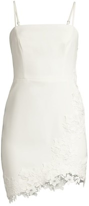 BCBGMAXAZRIA Embroidered Lace Cocktail Dress