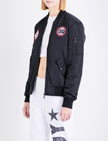 Boy London Patch shell bomber jacket
