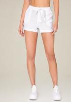 Bebe White Linen Shorts