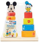 Disney Mickey Mouse and Donald Duck Wooden Stacker