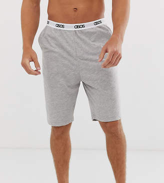 Asos Design DESIGN lounge pyjama shorts in grey neon marl