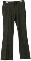 John Galliano Grey Wool Trousers for Women