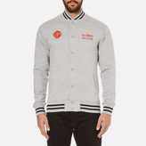 Billionaire Boys Club Men's Vegas Cotton Varsity Jacket Heather Grey