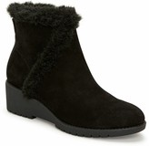 Tucker Adam Faux Fur Trimmed Wedge Booties - Noble