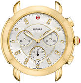 Michele Sidney 18K Watch Head with Diamonds, White/Gold