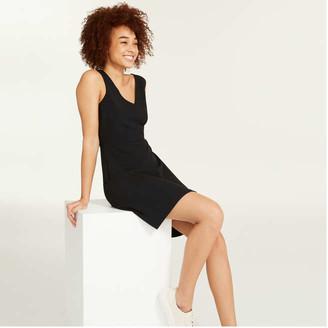 Joe Fresh Women's V-Neck Dress, JF Black (Size 2)