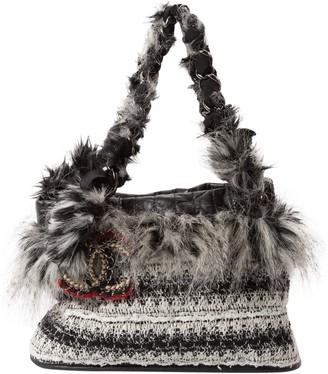 Chanel Grey Tweed Handbags