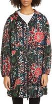 Moncler Floral Print Hooded Jacket