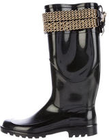 Burberry Chain-Link Rain Boots
