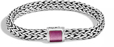 John Hardy Classic Chain 7.5MM Bracelet in Silver with Gemstone
