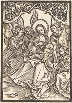 Spiffing Prints Albrecht Durer - The Virgin Nursing the Christ Child with Four Angels - Medium - Matte - Brown Frame