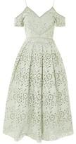 Topshop TALL Laser Cut Midi Prom Dress