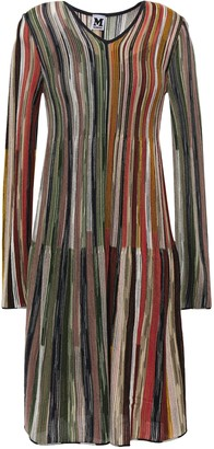 M Missoni Striped Wool-blend Dress