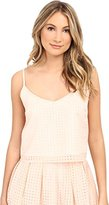 Jack by BB Dakota Women's Kapowski Gingham Organza Braid Strap Tank Top