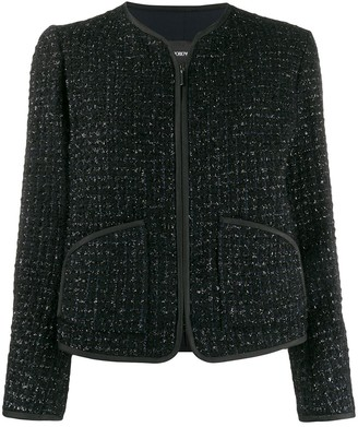 Emporio Armani zip-up tweed jacket