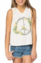 O'Neill Girl's Peace Wreath Graphic Tank