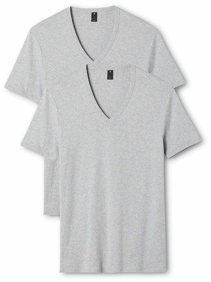 G Star Men's Base V-Neck Tee Short Sleeve 2-Pack Grey Htr X-Large