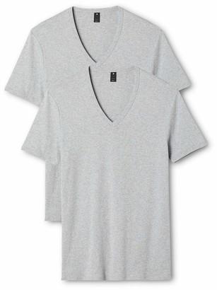 G Star Men's Base V-Neck Tee Short Sleeve 2-Pack Grey HTR XX-Large
