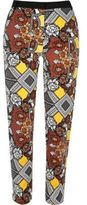 River Island Womens Yellow print woven pants