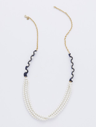 Talbots Mixed Pearl Long Necklace