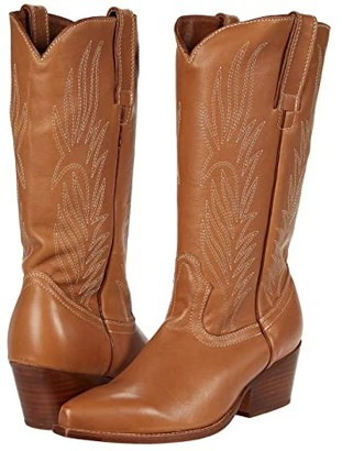 Steve Madden Cowboy Western Boot (Tan Leather) Women's Shoes