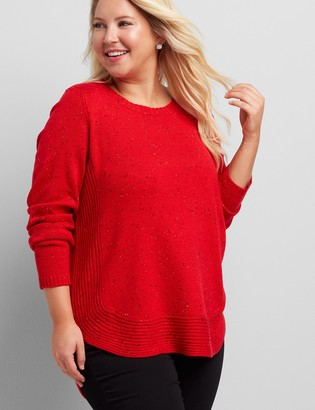 Lane Bryant Curved High-Low Pullover Sweater