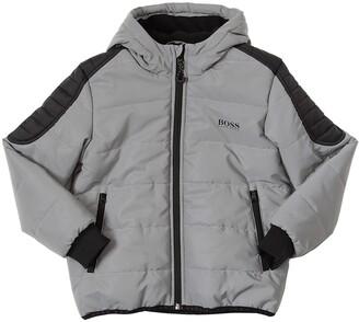 HUGO BOSS Padded Nylon Jacket W/ Hood