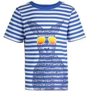 Andy & Evan Little Boy's Striped Graphic Tee