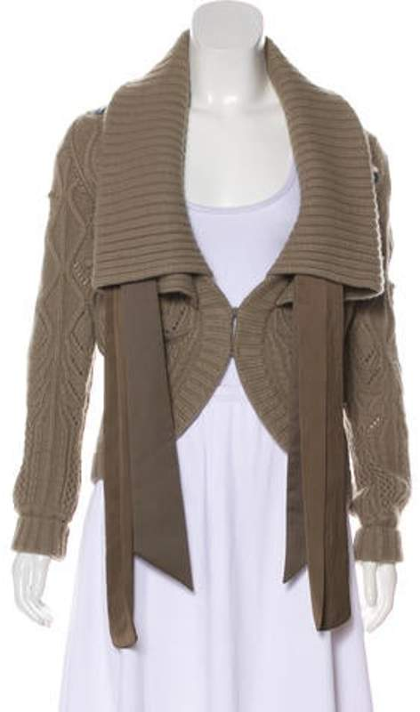 Stella McCartney Cable Knit Cardigan Grey Cable Knit Cardigan