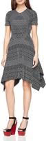 BCBGMAXAZRIA Arsley Geometric-Pattern Knit Dress