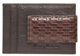 Tommy Bahama Men's Money Clip Card Case - Brown